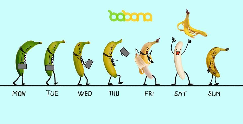 7 ngày trong tuần của Babana